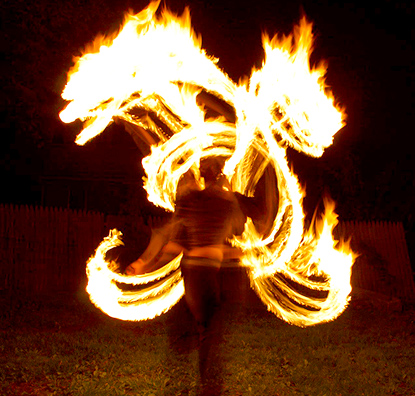 Fundraising Gala Fire Spinning